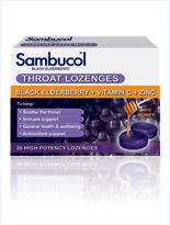 Sambucol Throat Lozenges with honey